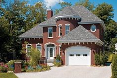 Brick house with turret