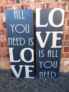 All You Need Is Love   Hand Painted and by ExpressionsWallArt, $89.00