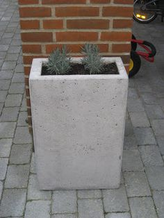 Blomster krukke - Om beton støbning