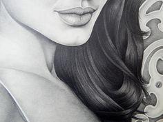 Angelina Jolie Pencil Drawing by Gabriel Serna