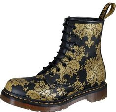 Fashion Binge: Doc Martens Fall 2010 Gold Flocked Floral Boots