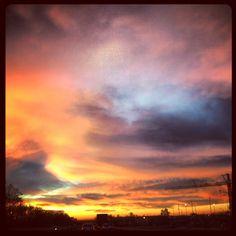 Sky in the morning, brescia, italia