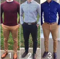 1️⃣, 2️⃣ or 3️⃣? Smart casual from @chrismehan ✨