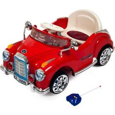 Lil' Rider Cruisin' Coupe Battery Operated Classic Car with Remote - Walmart.com
