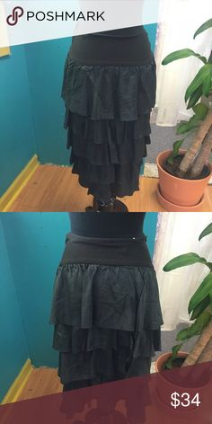 Neesh by D.A.R ruffle skirt The waist band is super soft jersey and stretchy! A fun and chic look. Neesh by D.A.R Skirts Midi