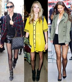 New Ways To Wear Your Tights Right Now via @WhoWhatWear