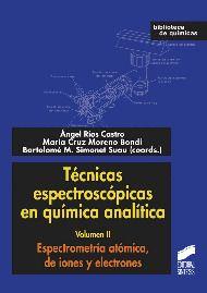 Técnicas espectroscópicas en química analítica / coordinadores: Ángel Ríos Castro, María Cruz Moreno Bondi, Bartolomé M. Simonet Suau. - Madrid : Síntesis, D.L. 2012