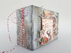 Happy New year to everybody! This is the mixed media album I made to cherish our Christmas photos. I always memorize happy moments.