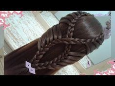 Stacked Fishtail Braid   Hairstyles for school   Easy Hairstyles   Cute Girly Hairstyles - YouTube