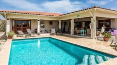 UPDATED 2018 - Casa Calida, a luxury villa with large porch and private pool in Sabalpalm Villa - Holiday Rental in Kralendijk - TripAdvisor Pool Houses, Private Pool, Rental Property, Luxury Villa, Trip Advisor, Swimming Pools, Floor Plans, House Styles, Outdoor Decor
