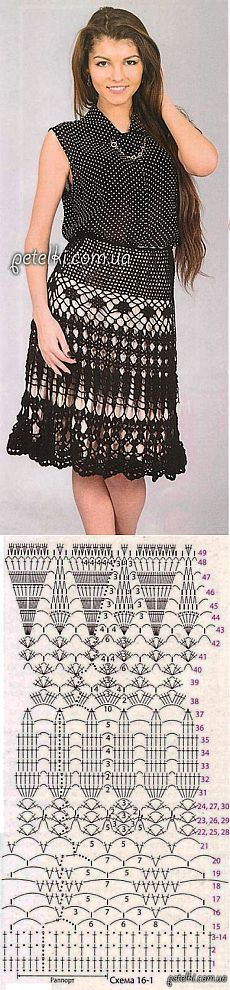 Skirt openwork crochet good scheme !!!.