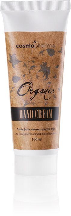 Organic Hand Cream. 100 ml | Cosmopharma konsulent Johansen Karine #handcream #cosmopharma #organic #tørrehender