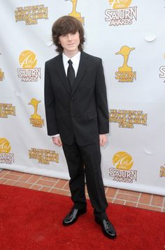 Chandler Riggs arrives for the 40th Annual Saturn Awards held at The Castaway on June 26, 2014 in Burbank, California.