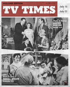 TVTimes Midlands edition July Harpers West One and. Vintage Television, Tv Times, Magazine Covers, Magazines, Nostalgia, The Past, Fiction, Childhood, British