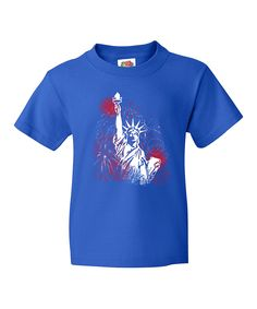 Look at this Blue Statue of Liberty Tee - Kids on #zulily today!  $12.99, S,M,L