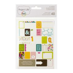 Created to pair perfectly with our 6x8 Weekly Planner Pages, this set of Planner Themed Cards make it easy to add more fun + details to your Project Life Weekly