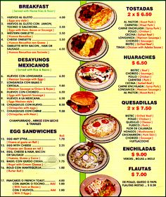 Menu de restaurante mexicano - Imagui Spanish Projects, Spanish Lessons, Teaching Spanish, Spanish Menu, Spanish Food, Spanish Classroom Activities, Learn Spanish Online, Tapas, Latin Food