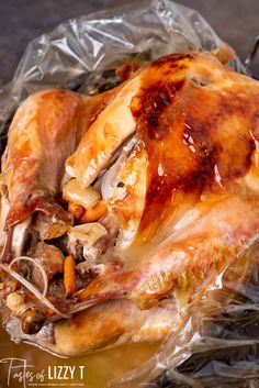Get a perfectly moist, golden brown turkey by cooking the turkey in a bag. Everything you need to know for seasoning and cooking turkey. Best Roasted Turkey, Baked Turkey, Thanksgiving Dinner Menu, Thanksgiving Recipes, Thanksgiving Turkey, Thanksgiving Cocktails, Thanksgiving Traditions, Turkey Bag Recipes, Turkey Cooking Times