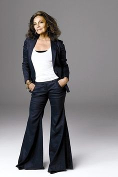 Diane von Furstenberg    Fashion Style for women over 50 **love this look at ANY age!