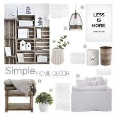 """Simple Home Decor"" by c-silla ❤ liked on Polyvore featuring interior, interiors, interior design, home, home decor, interior decorating, Nearly Natural, Crate and Barrel and Bloomingville"