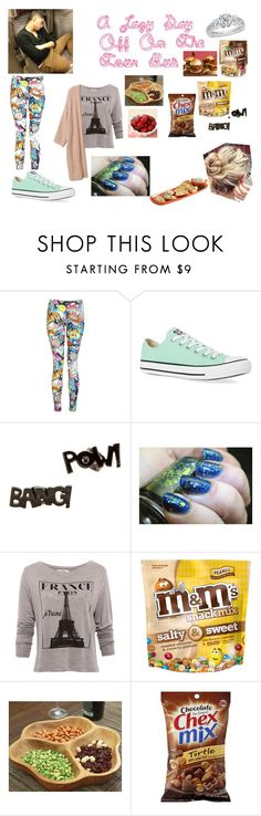 """A Lazy Day Off On The Bus"" by perrie-edwards-official-lm ❤ liked on Polyvore featuring Converse, Noir, Pull&Bear, Puji and Rachael Ray"