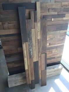 Real reclaimed wine barrel oak pieces stacked into a single prefab panel you can… Reclaimed Barn Wood, Weathered Wood, Wine Barrel Wall, Ceiling Tv, Flooring Companies, Room Screen, Fireplace Surrounds, Wainscoting, Prefab