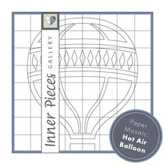 paper mosaic puzzle craft for kids hot air balloon grab this free printable as