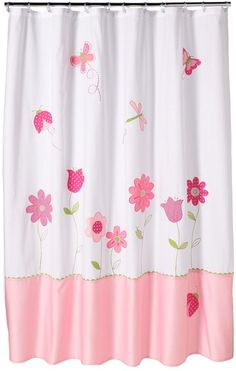 Saturday knight, ltd. butterfly garden fabric shower curtain $59.99 thestylecure.com