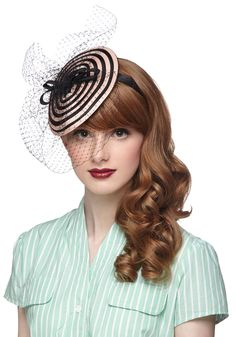 A Ladylike You Fascinator. With so many respectable qualities attached to your name, would you be expected to wear an accessory one bit less beautiful than this netted fascinator? #wedding #modcloth