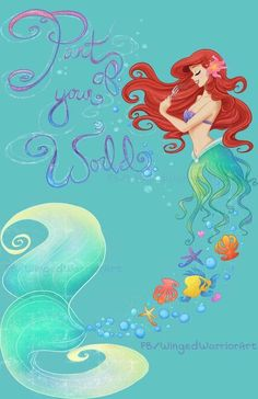 The+beautiful+Little+Mermaid.+Let+Ariel+swim,+or+walk,+into+your+home+today! Watermark+will+NOT+be+on+the+printed+version. Shipped+in+a+protected+sleeve+in+between+cardboard+backing,+guaranteed+to+get+there+safely! Disney Pixar, Film Disney, Disney Fan Art, Disney And Dreamworks, Disney Movies, Disney Artwork, Disney Dream, Cute Disney, Disney Girls