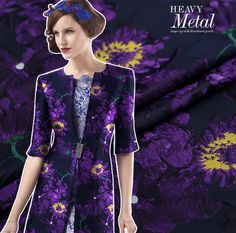 """Brocade fabric, Printed fabric, Jacquard fabric, flower dress fabric   Detailed information about this fabric:  ♥ Size: 165 cm x 50 cm              165 cm x 100 cm, if """"quantity 2"""" was ordered, and so on              It will be one continuous piece if multiple quantities was ordered.  ♥ Materials:nylon.   ♥Weight: 400 g/m.  ♥ Uses: good choice for you to make a dress, cheongsam, skirt, shirt, bedding articles(like sheet, pillow cover, etc)    Please be kindly noted that:  ♡ Pro..."""