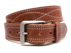 Black//Brown Leather Belts Appalachian Mountains Belt Set Nickel Smart