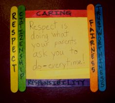 Use colored popsicle sticks to frame the kids' thoughts and reflections about character as enrichment for this lesson from Teaching Tolerance magazine.