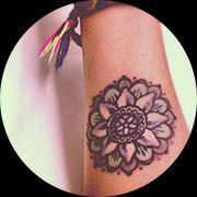 Small Mandala Tattoo Design: On Forearm Middle