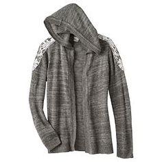 b7dc8765ad3 Girls 7-16   Plus Size Mudd® Crochet Hooded Cardigan Hooded Cardigan