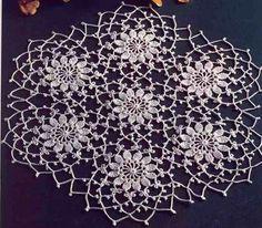 Crochet Table Center Delicacy