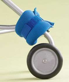 Use ankle weights on the front of your stroller to keep it from tipping over with your shopping bags when baby is out.