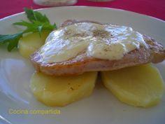 Cocina compartida: Lomo de cerdo con roquefort