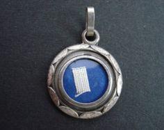 Religieus antiek medaille schrijn met de relikwie van Saint Louis-Marie Grignion de Montfort. ( 7 )