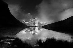 reflection by Gérard Darnis...... #switzerland #mountains #clouds #dark #mountain #glacier #alps #zermatt #ethereal #matterhorn #cervin #onirique #evocation
