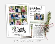 Merry Christmas Year in Review Holiday Card Template Spread some holiday cheer this season with a Christmas Card Template. Your beautiful family photos will look perfect in this 5x7 Christmas card. Choose a Year in Review for the back or just photos! You can quickly and easily edit your photo card Christmas Card Template, Christmas Photo Cards, Christmas Photos, Holiday Cards, Merry Christmas, Beautiful Family, Card Templates, Family Photos, Cheer
