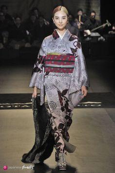 140319-7570 - Autumn/Winter 2014 Collection of Japanese fashion brand JOTARO SAITO on March 19, 2014, in Tokyo.