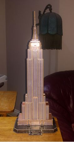 Model of the Empire State building that my fiancé and I made! Empire State Building, Building Cake, Going Away Parties, Autumn In New York, Vintage New York, Chrysler Building, Lower Manhattan, Minecraft Houses, Legos