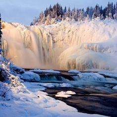 Frozen Waterfall, Sweden