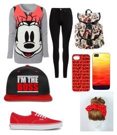 """""""Plz read description"""" by bre-fab ❤ liked on Polyvore featuring Disney, Dr. Denim, Marc by Marc Jacobs and Vans"""
