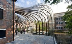 Heatherwick Studio was commissioned to lead the master plan and design of the gin-maker Bombay Sapphire 's new distillery in the south of England.