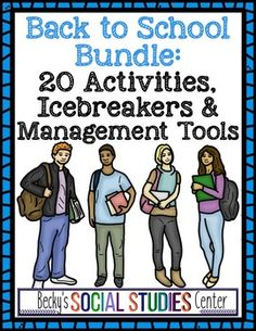 Two of the most important aspects of the beginning of the school year are forming positive relationships with your students and establishing important procedures in your classroom.  This bundle helps you do both!   The bundle includes the following 20 products:Dice Game: Get to Know Your StudentsClick here for more informationThis is a great activity that you can play during the first few days of school to get to know your new students.