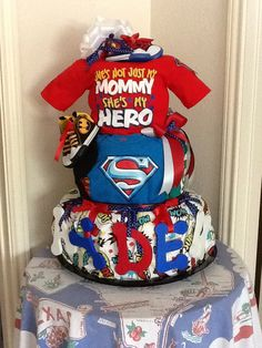 Super Hero diaper cake