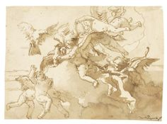 Giovanni Domenico Tiepolo, Pen and wash, brown ink, Mythological - master-drawings.com