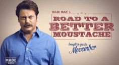 """Moustaches can't be quoted, but if they could...they'd say """"YES"""" to Movember"""